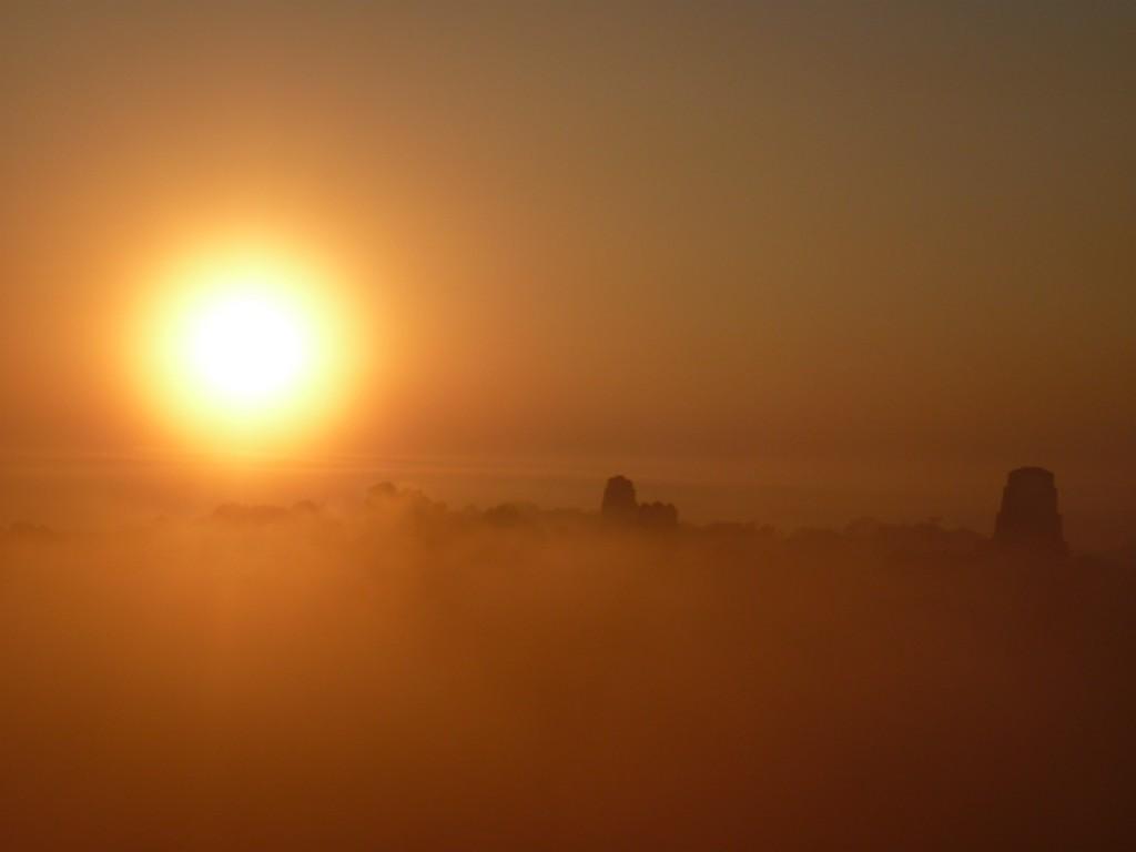 Sunrise in Tikal, Guatemala